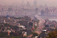 Paysage urbain scénique de mégalopole de Séoul en Corée du Sud photo libre de droits