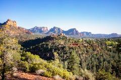 Paysage urbain - Sedona, Arizona, Etats-Unis Image libre de droits