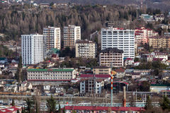 Paysage urbain Sotchi Russie Photos stock