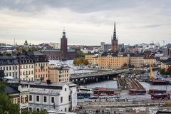 Paysage urbain, Stockholm, Suède image stock