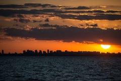 Paysage urbain Sunet de Buenos Aires Navigation Amérique du Sud, Argentine Photo libre de droits