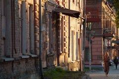 Paysage urbain : une section de rue de Malyshev, maison aucune 58-56 image stock