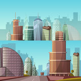 Paysage urbain Vecteur de ville et de nature Photographie stock libre de droits