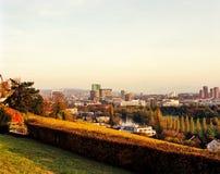 Paysage urbain Zurich d'automne photo stock