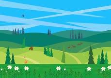 Paysage vert d'été illustration libre de droits