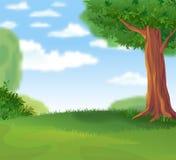 Paysage vert pendant le jour ensoleillé d'été illustration libre de droits