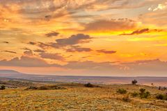 Paysage vibrant avec les cieux gentils photos stock