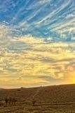 Paysage vibrant avec les cieux gentils photo stock