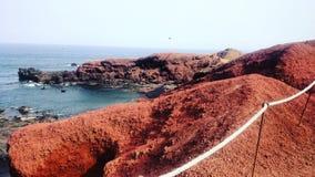 Paysage volcanique à Lanzarote, Espagne Images stock