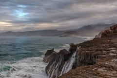 Paysage volcanique de Fuerteventura, Îles Canaries, Espagne Photographie stock libre de droits