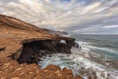 Paysage volcanique de Fuerteventura, Îles Canaries, Espagne Image stock
