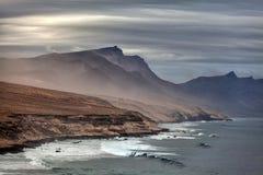Paysage volcanique de Fuerteventura, Îles Canaries, Espagne Images stock
