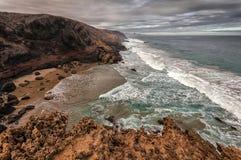 Paysage volcanique de Fuerteventura, Îles Canaries, Espagne Images libres de droits