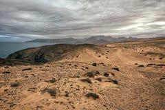 Paysage volcanique de Fuerteventura, Îles Canaries, Espagne Image libre de droits