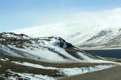 Paysage volcanique de montagne en Islande Photos stock