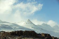 Paysage volcanique de montagne en Islande Photographie stock libre de droits