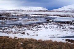 Paysage volcanique de montagne en Islande Photographie stock