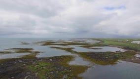 Paysage volcanique en Islande du sud banque de vidéos