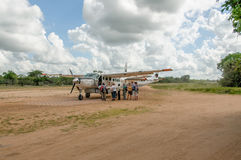 Paysages africains - tourisme à la réservation de jeu de Selous, Tanzanie images libres de droits