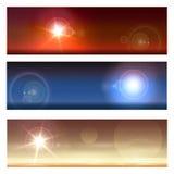 Paysages cosmiques réglés illustration libre de droits