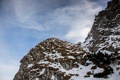 Paysages d'hiver au-dessus des montagnes carpathiennes Photo libre de droits