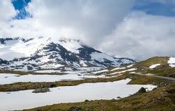Paysages d'itinéraire de touristes national de la Norvège, route 55 Photos libres de droits