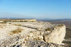 Paysages dans le secteur de la falaise d'Ak-Kaya Photographie stock libre de droits