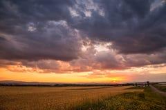 Paysages de coucher du soleil Photographie stock