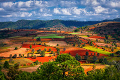 Paysages de l'État Shan Image libre de droits