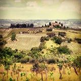 Paysages de la Toscane Photo libre de droits