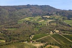 Paysages de la Toscane dans le chianti de Radda photos stock