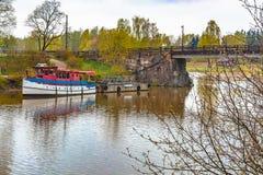 Paysages de la ville finlandaise Parvoo photographie stock libre de droits