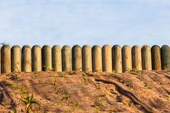 Paysages de Log Poles Gardening de barrière images stock