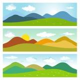 Paysages de montagne d'été illustration de vecteur