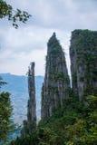 Paysages de montagne d'Enshi Grand Canyon image stock