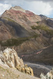 Paysages de montagne du Kirghizistan Image stock