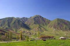 Paysages de montagne du Kirghizistan Ressort dans les montagnes image stock