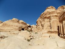Paysages de PETRA, Jordanie photo stock
