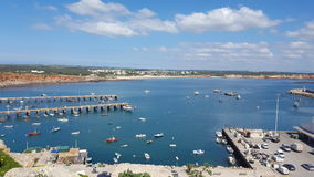 Paysages de port de sagres Photo stock