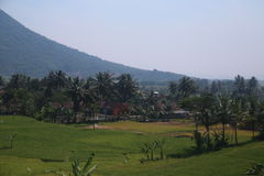 Paysages entre Bandung et Kroya Images libres de droits