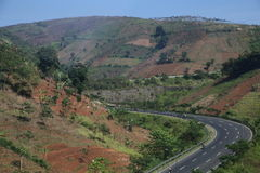 Paysages entre Bandung et Kroya Photos stock