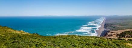 Paysages nationaux de bord de la mer de Reyes de point en Californie Image libre de droits