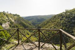 Paysages naturels de Carosello cave Noto - en Italie photos stock