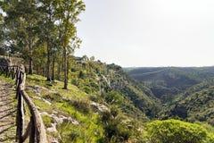 Paysages naturels de Carosello cave Noto - en Italie photos libres de droits