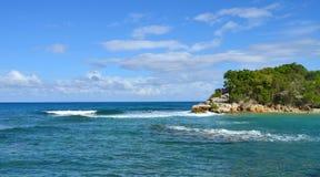 Paysages paysages de Cocos de banc de sable, Bahamas Image libre de droits