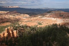 Paysages profonds Bryce Canyon d'ombre photo stock