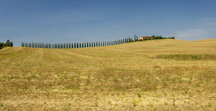 Paysages ruraux de la belle Toscane, Italie Photos stock