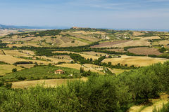 Paysages ruraux de la belle Toscane, Italie Photo libre de droits