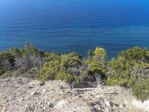 Paysages, Skiathos, Grèce images libres de droits