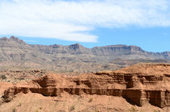 Paysages sur Pierce Ferry Road, Meadview Parc national de canyon grand, Arizona images libres de droits